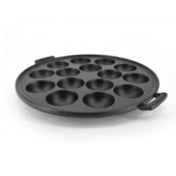 Cast iron mold for Japanese dishes, TAKOYAKI EBIYAKI