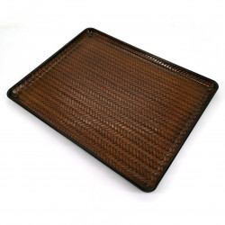 Japanese non-slip tray, brown - HENSO
