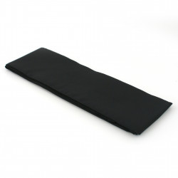 Japanese traditional black obi belt in polyester, OBI