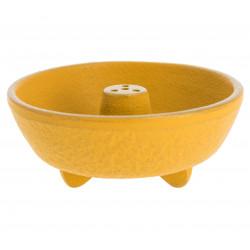 yellow cast iron incense burner, IWACHU, fountain
