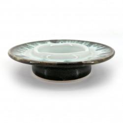 Ceramic ashtray, white infused paint - CHUNYU