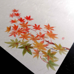 10 mulberry paper placemats - MOMIJI