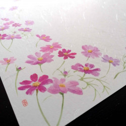 10 mulberry paper placemats - COSMOS