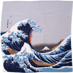 furoshiki japonais NAMIFUJI- Hokusai La Grande Vague de Kanagawa