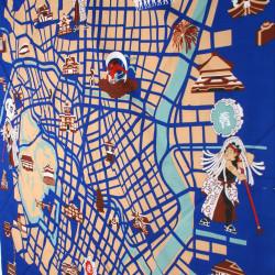 japanese furoshiki Kyoto map