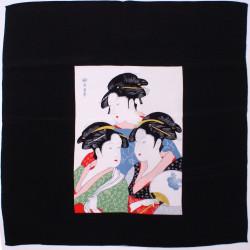 furoshiki japonais geishas - 3 femmes