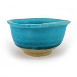 Piccolo contenitore in ceramica giapponese, blu turchese, KAIYO