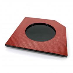 Coaster in resin, red and black, JIMINA