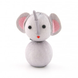 japanese okiagari doll grey elephant