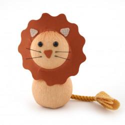 bambola giapponese, fatta di carta - okiagari, RAION, leone