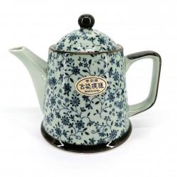 Japanese teapot, KOZOME SUÎTO, blue flowers