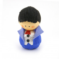 japanese okiagari doll SHINRO blue bridegroom