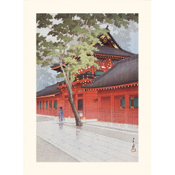 Japanese print, After the rain in Ugo, Kawase Hasui