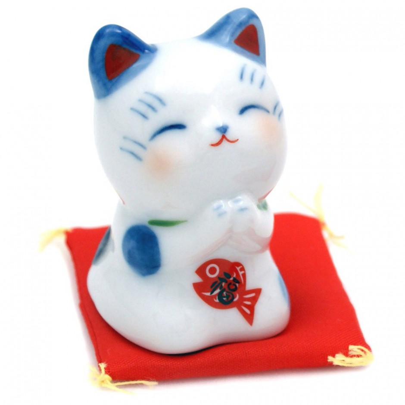 Chat porte-bonheur japonais maneki neko - ONEGAI