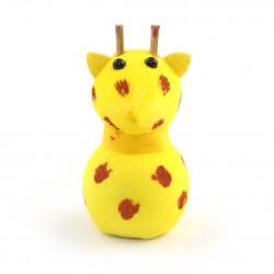 bambola giapponese, fatta di carta - okiagari, JIRAFU, Giraffa gialla