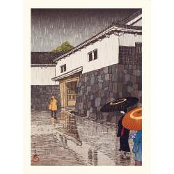 Japanese print, Uchiyamashita in Okayama, Kawase Hasui