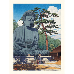 Japanese print, The Great Buddha of Kamakura, Kawase Hasui