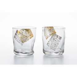 Set of 2 Japanese whiskey glasses, PREMIUM KIRARI