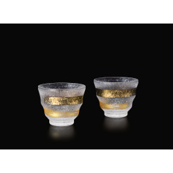 Set of 2 Japanese tea glasses, PREMIUM ICHIMONJI