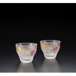 Set of 2 Japanese sake glasses, PREMIUM SAKURASUIMON