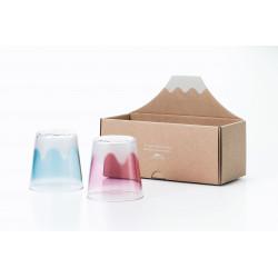 Set of 2 Japanese whiskey glasses, PREMIUM FUJI UTSUSHI