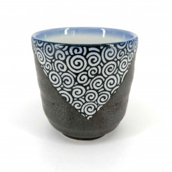 Japanese gray ceramic teacup 388-10-45D