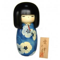 Poupée japonaise KOKESHI en bois. fabriquée à la main au Japon - AIKO