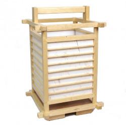 japanese lamp natural wood and paper 2034