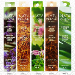 40 Japanese incense sticks, NATURENSE, choice of fragrance