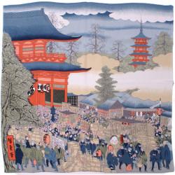 furoshiki japonais foire d'Asakusa - Hiroshige