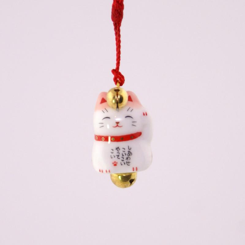accroche décorative japonaise pour téléphone chat 7349
