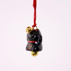 japanischer dekorativer katze haken für telefon, MANEKINEKO, schwarz