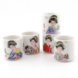 set of 5 Japanese sake cups 258621 BIJIN
