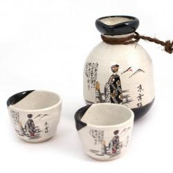 service à saké japonais blanc T258611