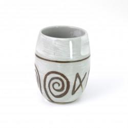 tasse grise japonaise à thé en céramique 4003721D