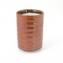 tasse rouge japonaise à thé en céramique 361503578