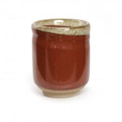 tasse rouge japonaise à thé en céramique 39717