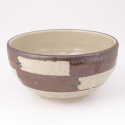 Japanische keramische Suppenschüssel, ICHIMATSU, pinsel