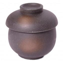 tasse noire à thé avec couvercle en céramique 1071923