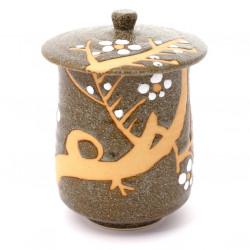 tasse à thé avec couvercle en céramique 39615