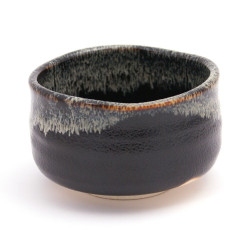bol japonais noir à thé en céramique 43121