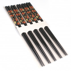 set of 5 pairs of Japanese chopsticks wooden nok 4