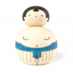 Japanese doll wooden KOKESHI - Osumosan red