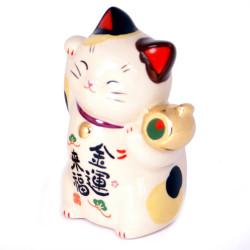 Chat porte-bonheur japonais maneki neko - tonneau 7447