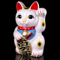 Chat géant tirelire japonais maneki neko - patte gauche levée MN-8B