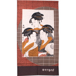 rideau japonais NOREN ``3 ladies``