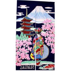 """rideau japonais bleu NOREN Maiko """"Japan"""""""