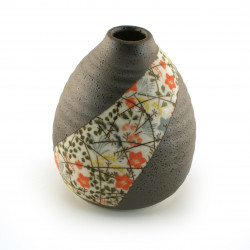 vase soliflore japonais motifs floraux NISHIKIORI ICHIRINSASHI