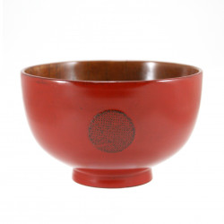 red wooden miso bowl 1550 10