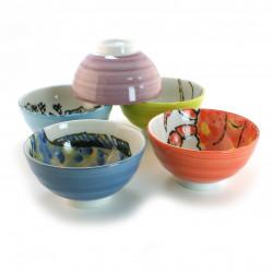 set de 5 bols à riz japonais déco poisson 16M91145